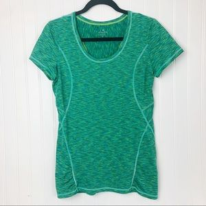Athleta Activewear Green Short Sleeve Top Size S
